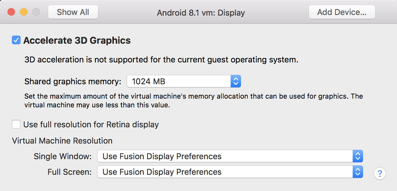 vmware workstation mac os x 3d acceleration