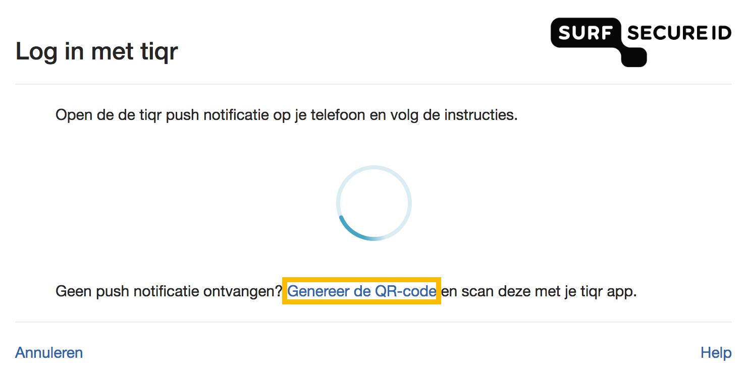 Generate a QR Code Tiqr