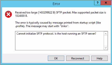 Error when trying to access VMware PSC with WinSCP (6.7)