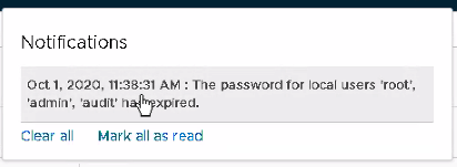 NSX-T Passwords Expired for default accounts